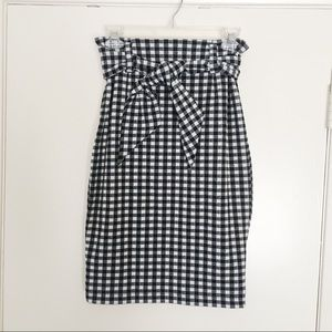 Maeve Gingham Pencil Skirt